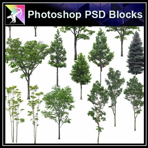 ★Photoshop PSD Landscape Blocks-Trees Blocks V.5