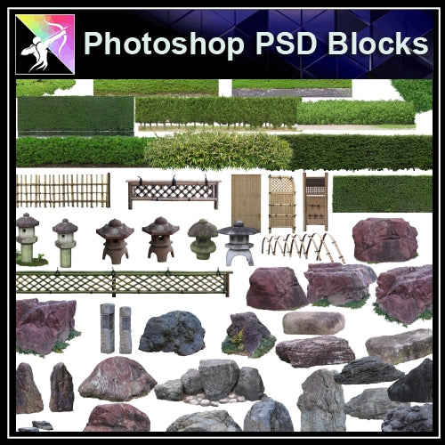 ★Photoshop PSD Landscape Blocks-Trees Blocks V.6 - Architecture Autocad Blocks,CAD Details,CAD Drawings,3D Models,PSD,Vector,Sketchup Download