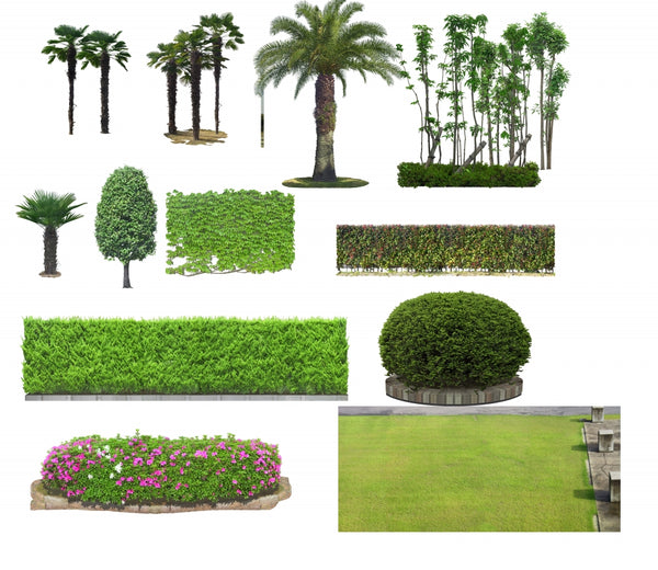★Photoshop PSD Landscape Blocks-Trees Blocks V.9