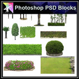★Photoshop PSD Landscape Blocks-Trees Blocks V.9 - Architecture Autocad Blocks,CAD Details,CAD Drawings,3D Models,PSD,Vector,Sketchup Download