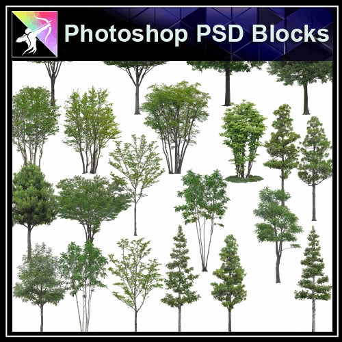 ★Photoshop PSD Landscape Blocks-Trees Blocks V.10 - Architecture Autocad Blocks,CAD Details,CAD Drawings,3D Models,PSD,Vector,Sketchup Download
