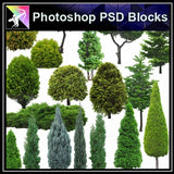 ★Photoshop PSD Landscape Blocks-Trees Blocks V.11 - Architecture Autocad Blocks,CAD Details,CAD Drawings,3D Models,PSD,Vector,Sketchup Download