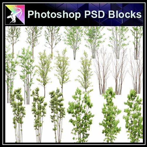 ★Photoshop PSD Landscape Blocks-Trees Blocks V.12