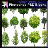 ★Photoshop PSD Landscape Blocks-Trees Blocks V.13 - Architecture Autocad Blocks,CAD Details,CAD Drawings,3D Models,PSD,Vector,Sketchup Download