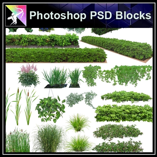 ★Photoshop PSD Landscape Blocks-Trees Blocks V.7