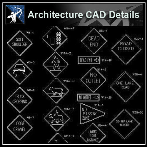 【Architecture Details】Sign Library - Architecture Autocad Blocks,CAD Details,CAD Drawings,3D Models,PSD,Vector,Sketchup Download