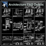 【Architecture Details】Door Jamb Details - Architecture Autocad Blocks,CAD Details,CAD Drawings,3D Models,PSD,Vector,Sketchup Download