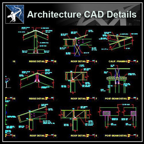 【Architecture Details】Construction Details V.2 - Architecture Autocad Blocks,CAD Details,CAD Drawings,3D Models,PSD,Vector,Sketchup Download