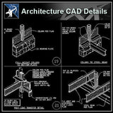 【Architecture Details】Framing Details - Architecture Autocad Blocks,CAD Details,CAD Drawings,3D Models,PSD,Vector,Sketchup Download