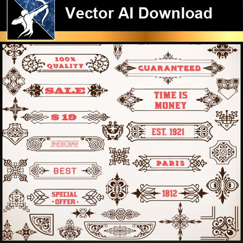 ★Vector Download AI-Floral Design Elements Vector V.6