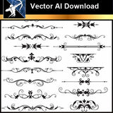 ★Vector Download AI-Floral Design Elements Vector V.7