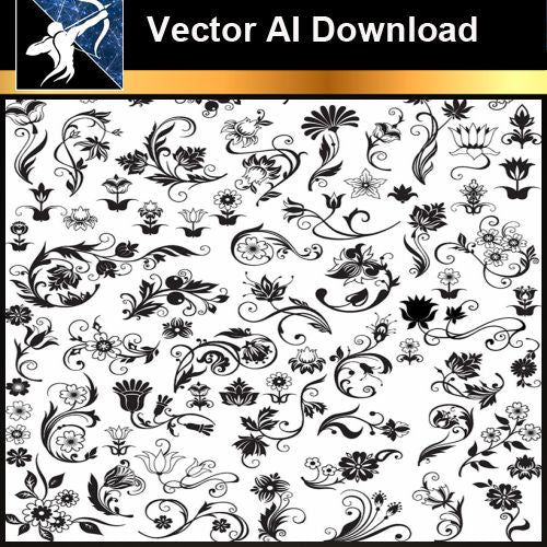 ★Vector Download AI-Floral Design Elements Vector V.8 - Architecture Autocad Blocks,CAD Details,CAD Drawings,3D Models,PSD,Vector,Sketchup Download