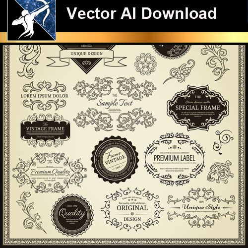 ★Vector Download AI-Floral Design Elements Vector V.9