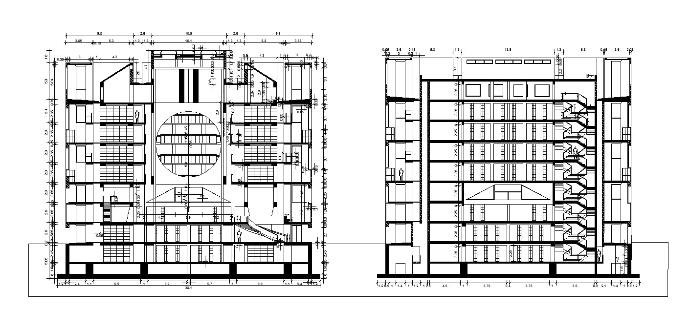 【Famous Architecture Project】Exeter Library - Louis Kahn-CAD Drawings