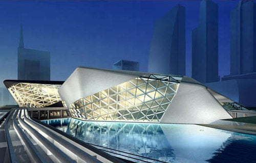 【Famous Architecture Project】Guangzhou opera Sketchup 3d model-Zaha Hadid architects-Architectural 3D model