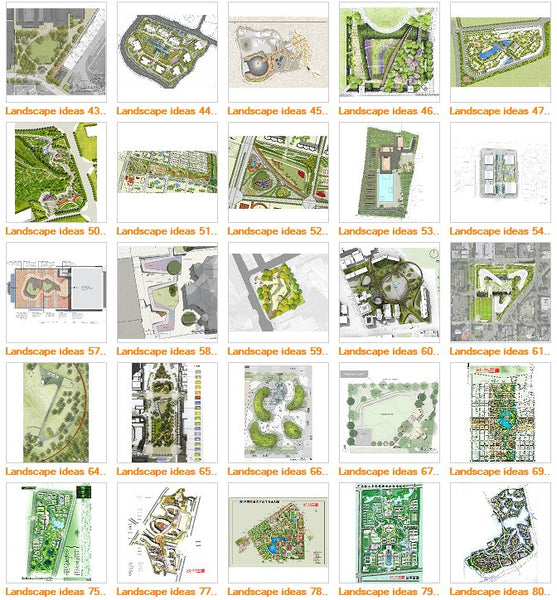 ★Top 100 Landscape Design Ideas V.3 - Architecture Autocad Blocks,CAD Details,CAD Drawings,3D Models,PSD,Vector,Sketchup Download