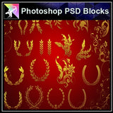 ★Photoshop PSD Decorative Elements V1-PSD Decorative Elements,Skirting Board,Corner Post,Neoclassicism Decor,Baroque elements - Architecture Autocad Blocks,CAD Details,CAD Drawings,3D Models,PSD,Vector,Sketchup Download