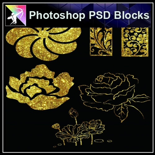 ★Photoshop PSD Decorative Elements V17-PSD Decorative Elements,Skirting Board,Corner Post,Neoclassicism Decor,Baroque elements
