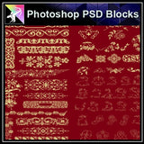 ★Photoshop PSD Decorative Elements V6-PSD Decorative Elements,Skirting Board,Corner Post,Neoclassicism Decor,Baroque elements - Architecture Autocad Blocks,CAD Details,CAD Drawings,3D Models,PSD,Vector,Sketchup Download