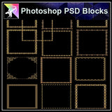 ★Photoshop PSD Decorative Elements V20-PSD Decorative Elements,Skirting Board,Corner Post,Neoclassicism Decor,Baroque elements - Architecture Autocad Blocks,CAD Details,CAD Drawings,3D Models,PSD,Vector,Sketchup Download
