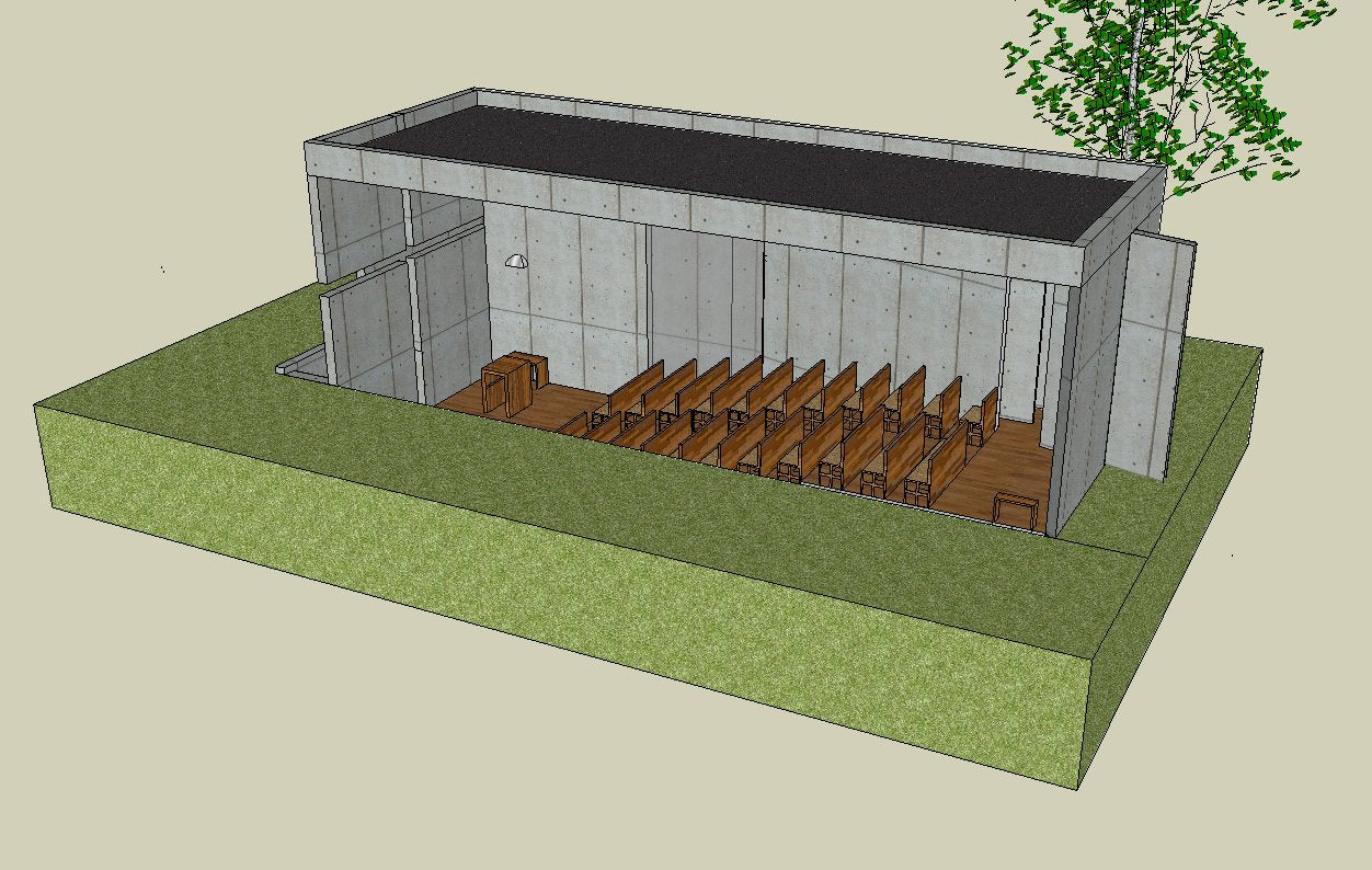 【Famous Architecture Project】Church of light-Tadao Ando Architecture-3D skp-Architectural 3D Sketchup model
