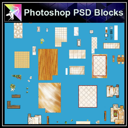 ★Interior Design Plan Photoshop PSD Blocks V.10 - Architecture Autocad Blocks,CAD Details,CAD Drawings,3D Models,PSD,Vector,Sketchup Download