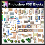 ★Interior Design Plan Photoshop PSD Blocks V.12 - Architecture Autocad Blocks,CAD Details,CAD Drawings,3D Models,PSD,Vector,Sketchup Download