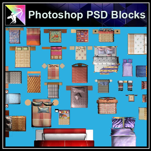 ★Interior Design Plan Photoshop PSD Blocks V.14 - Architecture Autocad Blocks,CAD Details,CAD Drawings,3D Models,PSD,Vector,Sketchup Download