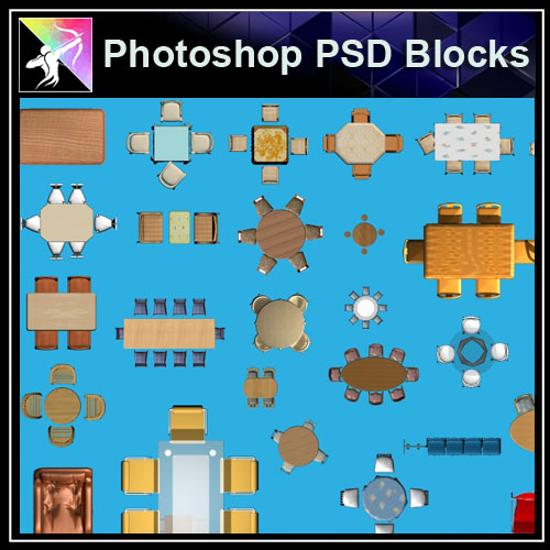 ★Interior Design Plan Photoshop PSD Blocks V.16 - Architecture Autocad Blocks,CAD Details,CAD Drawings,3D Models,PSD,Vector,Sketchup Download