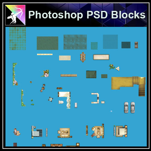 ★Interior Design Plan Photoshop PSD Blocks V.9 - Architecture Autocad Blocks,CAD Details,CAD Drawings,3D Models,PSD,Vector,Sketchup Download