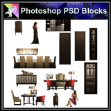 【Photoshop PSD Blocks】Interior Design PSD Blocks 1 - Architecture Autocad Blocks,CAD Details,CAD Drawings,3D Models,PSD,Vector,Sketchup Download