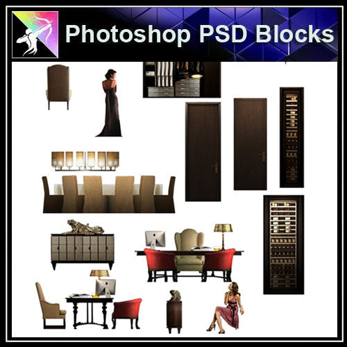 【Photoshop PSD Blocks】Interior Design PSD Blocks 1