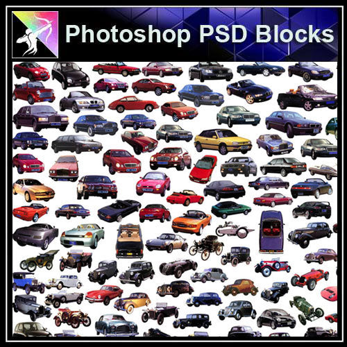 【Photoshop PSD Blocks】Car,Transportation PSD Blocks - Architecture Autocad Blocks,CAD Details,CAD Drawings,3D Models,PSD,Vector,Sketchup Download
