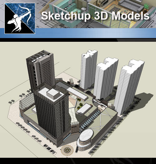 ★Sketchup 3D Models-Business Building Sketchup Models 20