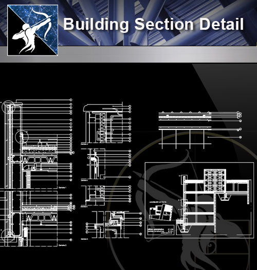 【Architecture Details】Building Section Detail - Architecture Autocad Blocks,CAD Details,CAD Drawings,3D Models,PSD,Vector,Sketchup Download