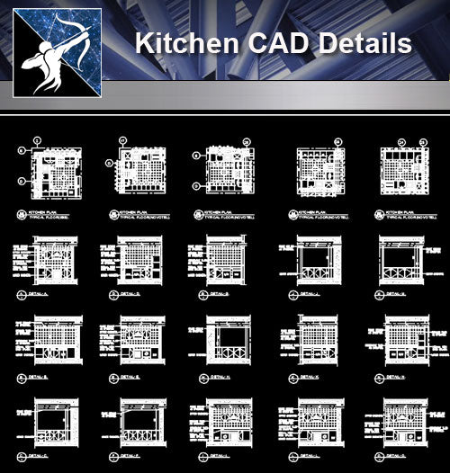 【Kitchen Details】Detail drawing of kitchen design drawing - Architecture Autocad Blocks,CAD Details,CAD Drawings,3D Models,PSD,Vector,Sketchup Download