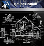 【Wall Details】House Section - Architecture Autocad Blocks,CAD Details,CAD Drawings,3D Models,PSD,Vector,Sketchup Download