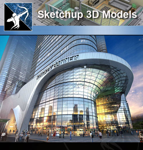 ★★Sketchup 3D Models--Architecture Concept Sketchup Models 22 - Architecture Autocad Blocks,CAD Details,CAD Drawings,3D Models,PSD,Vector,Sketchup Download