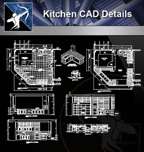 【Kitchen Details】Kitchen detail and design - Architecture Autocad Blocks,CAD Details,CAD Drawings,3D Models,PSD,Vector,Sketchup Download