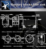 【Sanitations Details】Sanitary Blocks Filter Sink - Architecture Autocad Blocks,CAD Details,CAD Drawings,3D Models,PSD,Vector,Sketchup Download
