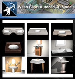 ★AutoCAD 3D Models-Wash basin Autocad 3D Models - Architecture Autocad Blocks,CAD Details,CAD Drawings,3D Models,PSD,Vector,Sketchup Download