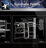 【Window Details】Sunshade Details - Architecture Autocad Blocks,CAD Details,CAD Drawings,3D Models,PSD,Vector,Sketchup Download