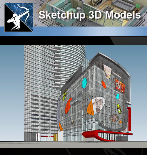 ★Sketchup 3D Models-Business Building Sketchup Models 17