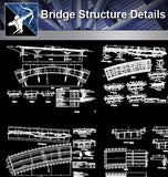 【Bridge Details】Bridge Structure Details - Architecture Autocad Blocks,CAD Details,CAD Drawings,3D Models,PSD,Vector,Sketchup Download