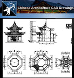 ★Chinese Architecture CAD Drawings-All Chinese Pavilion Collections - Architecture Autocad Blocks,CAD Details,CAD Drawings,3D Models,PSD,Vector,Sketchup Download