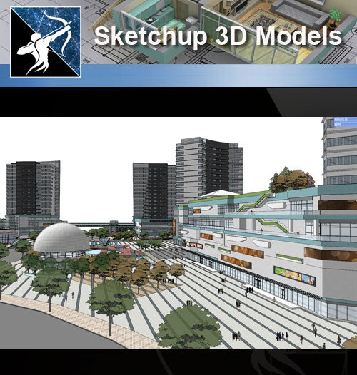 ★Sketchup 3D Models-Business Building Sketchup Models