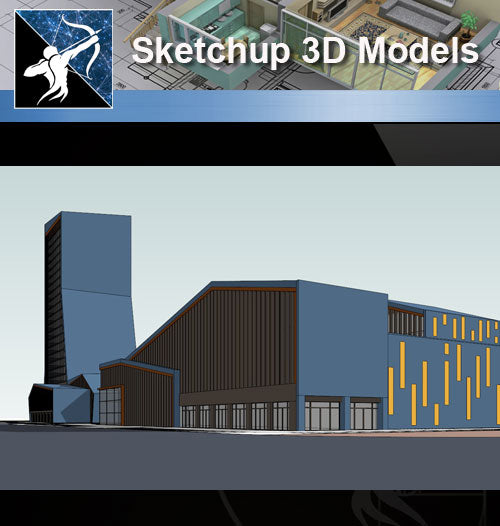 ★★Sketchup 3D Models--Architecture Concept Sketchup Models 16 - Architecture Autocad Blocks,CAD Details,CAD Drawings,3D Models,PSD,Vector,Sketchup Download
