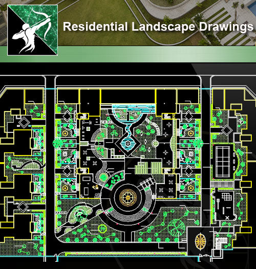 ★Residential Landscape CAD Drawings V.2 - Architecture Autocad Blocks,CAD Details,CAD Drawings,3D Models,PSD,Vector,Sketchup Download