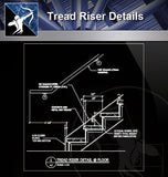 【Free Stair Details】Tread Riser Detail - Architecture Autocad Blocks,CAD Details,CAD Drawings,3D Models,PSD,Vector,Sketchup Download