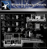 【Sanitations Details】Plumbing Design 2 (Recommanded!!) - Architecture Autocad Blocks,CAD Details,CAD Drawings,3D Models,PSD,Vector,Sketchup Download